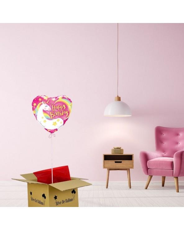 box ballon anniversaire Licorne