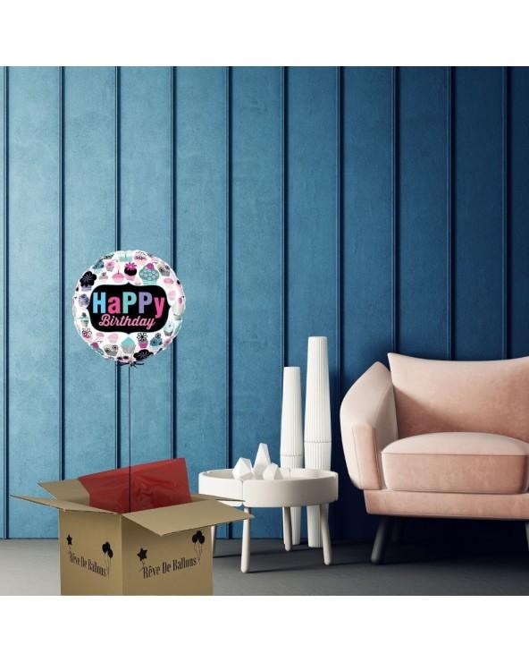 Ballon cadeau anniversaire Happy birthday