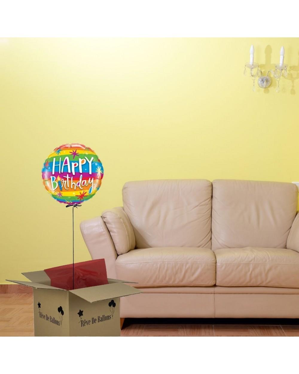 box ballon cadeau happy birthday