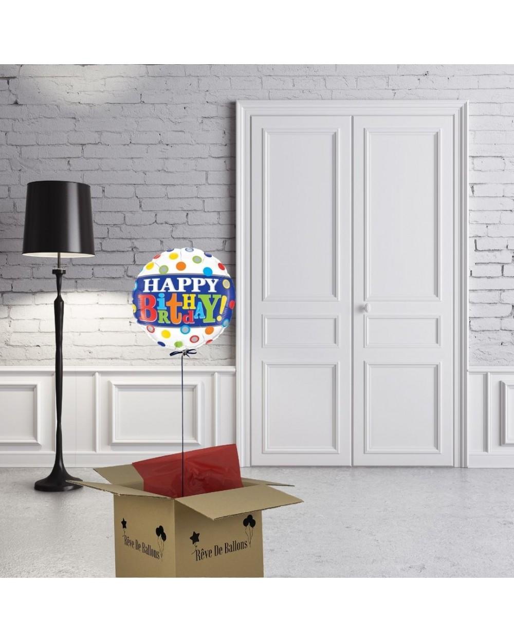 ballon cadeau Happy birthday