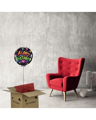 box ballon helium anniversaire happy birthday