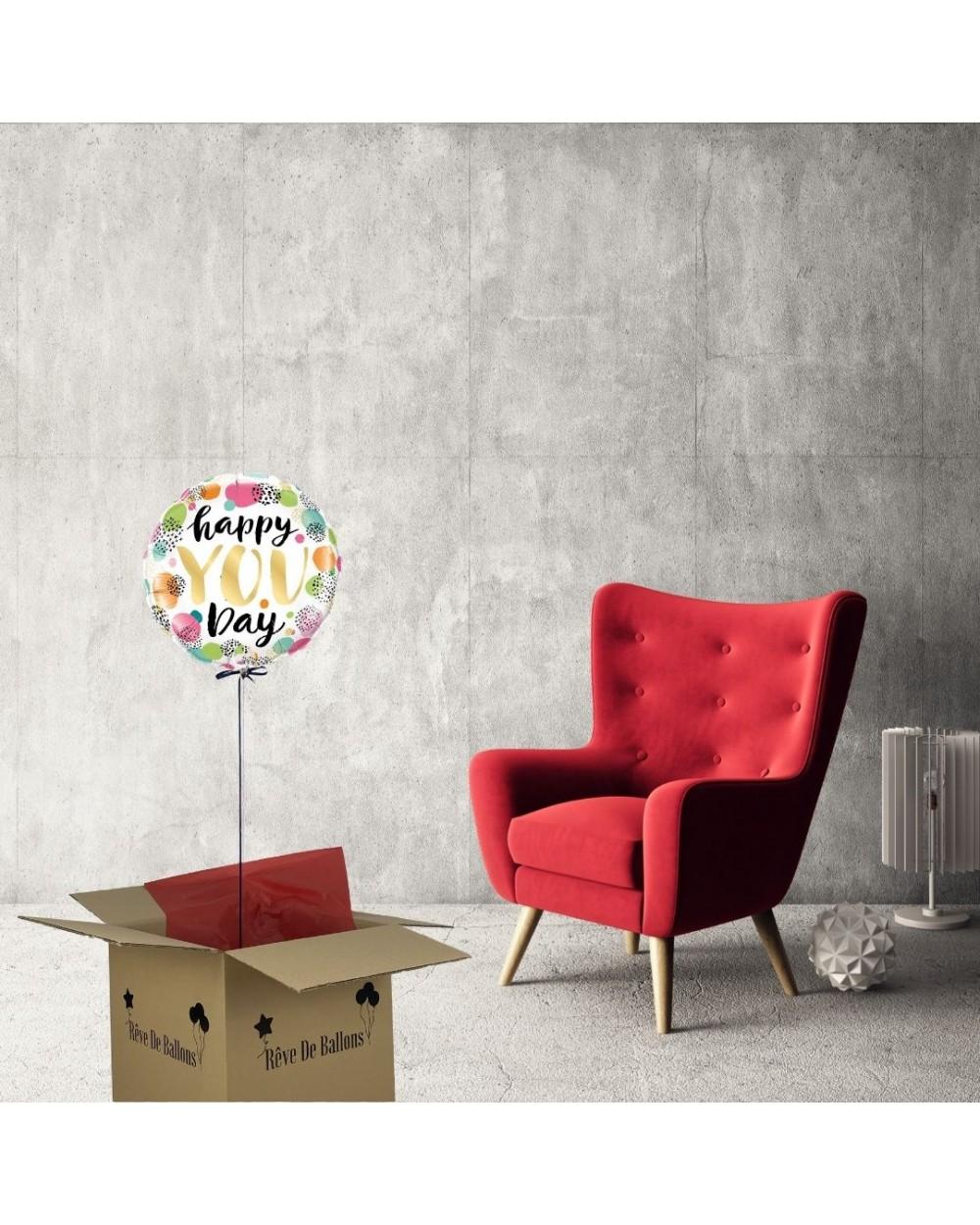 ballon cadeau anniversaire happy you day