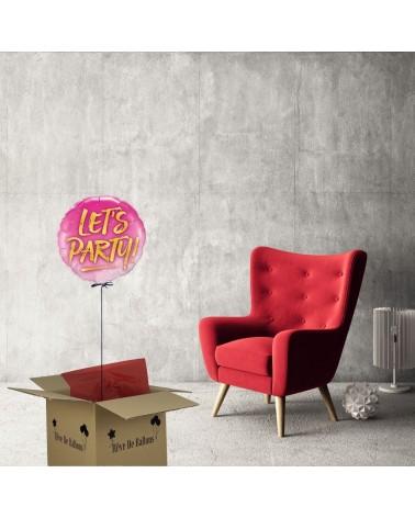 Box ballon cadeau anniversaire Let's party pour faire la fête