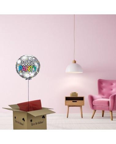 Offrir un cadeau à distance est facile grâce à Rêve de ballons : envoyez une jolie box ballon Let's party